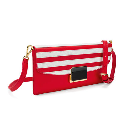 Club Riviera Envelope Leather Bag , Red, hires