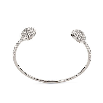 Fashionably Silver Essentials Rhodium Plated Cuff Bracelet, , hires