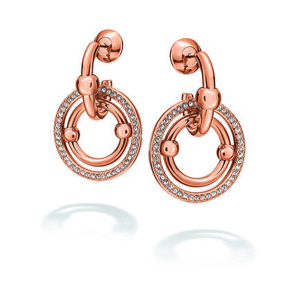 Bonds Rose Gold Plated Short Stone Earrings, , hires