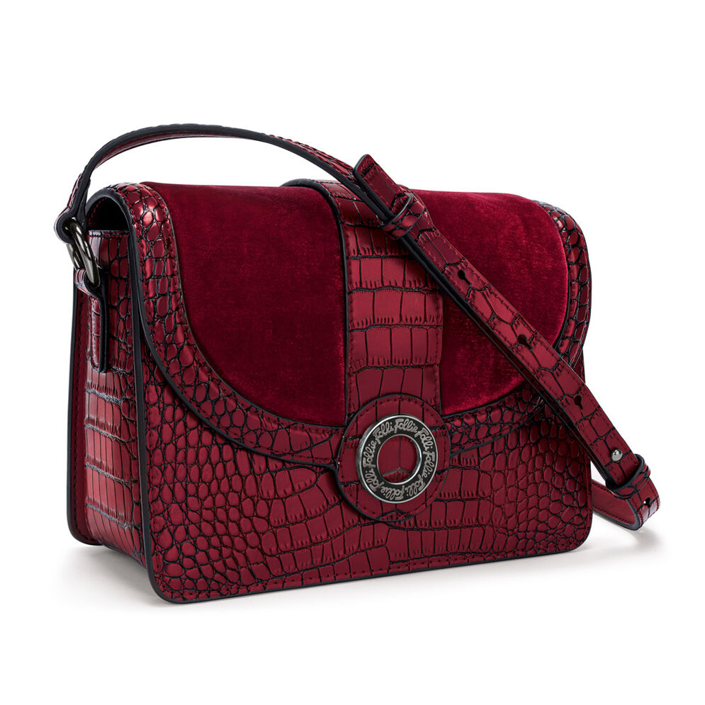 Lady Club Small Leather Shoulder Bag, Red, hires