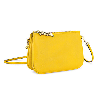 Foliage Detachable Crossbody Strap Shoulder Bag, Yellow, hires