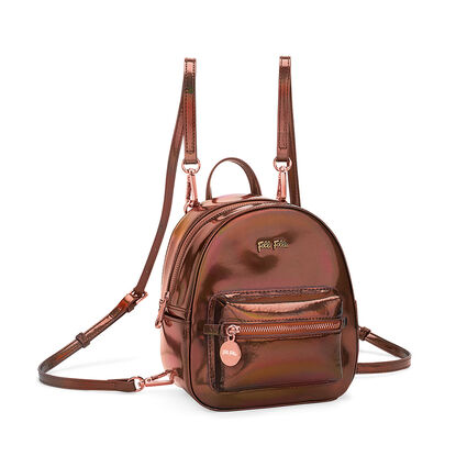 Metallic Love Mini Backpack, Brown, hires