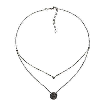Fashionably Silver Essentials Black Rhodium Plated Short Necklace, , hires
