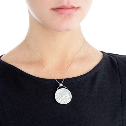 Fashionably Silver Temptation Rhodium Plated Κοντό Κολιέ , , hires