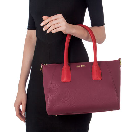 On The Go Medium Size Handbag, Red, hires