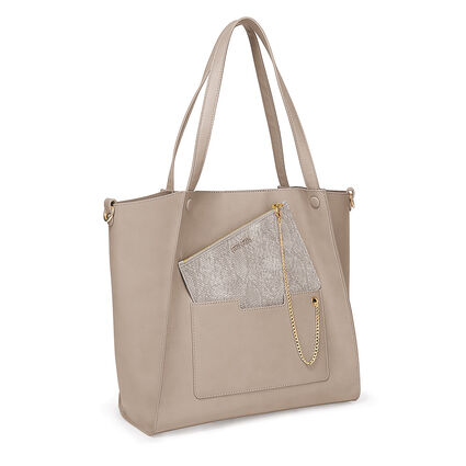 On The Go Τσάντα Ώμου με extra pouch, Gray, hires