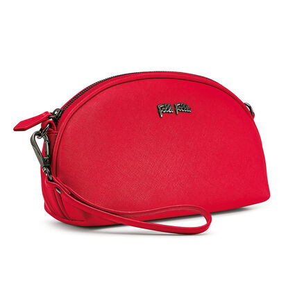 Folli Follie Detachable Crossbody Strap Necessaire Bag, Red, hires