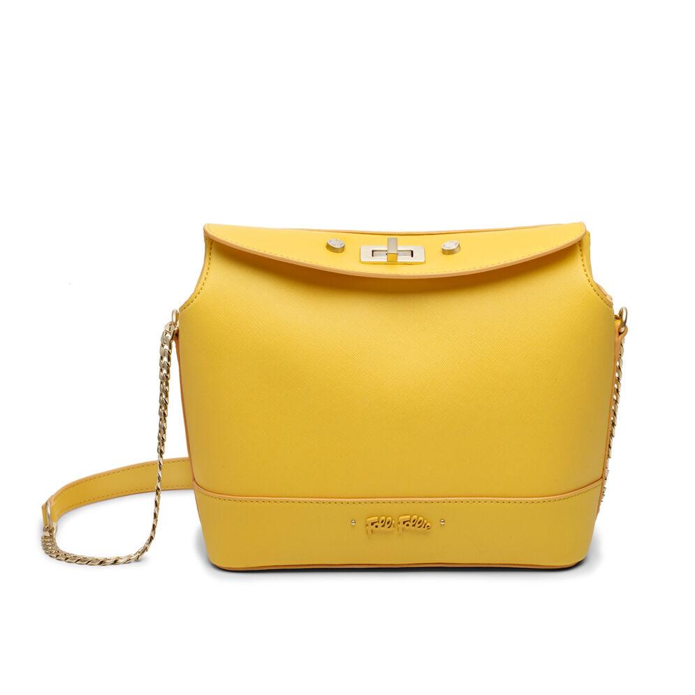 Uptown Beauty Bucket Shoulder Bag, Yellow, hires