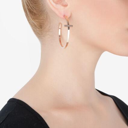 Carma Rose Gold Plated Hoop Earrings, , hires