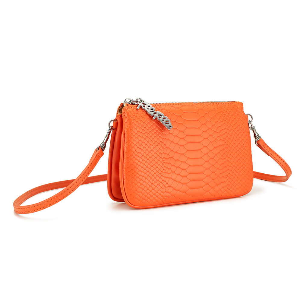 Reflections Detachable Crossbody Strap Shoulder Bag, Orange, hires
