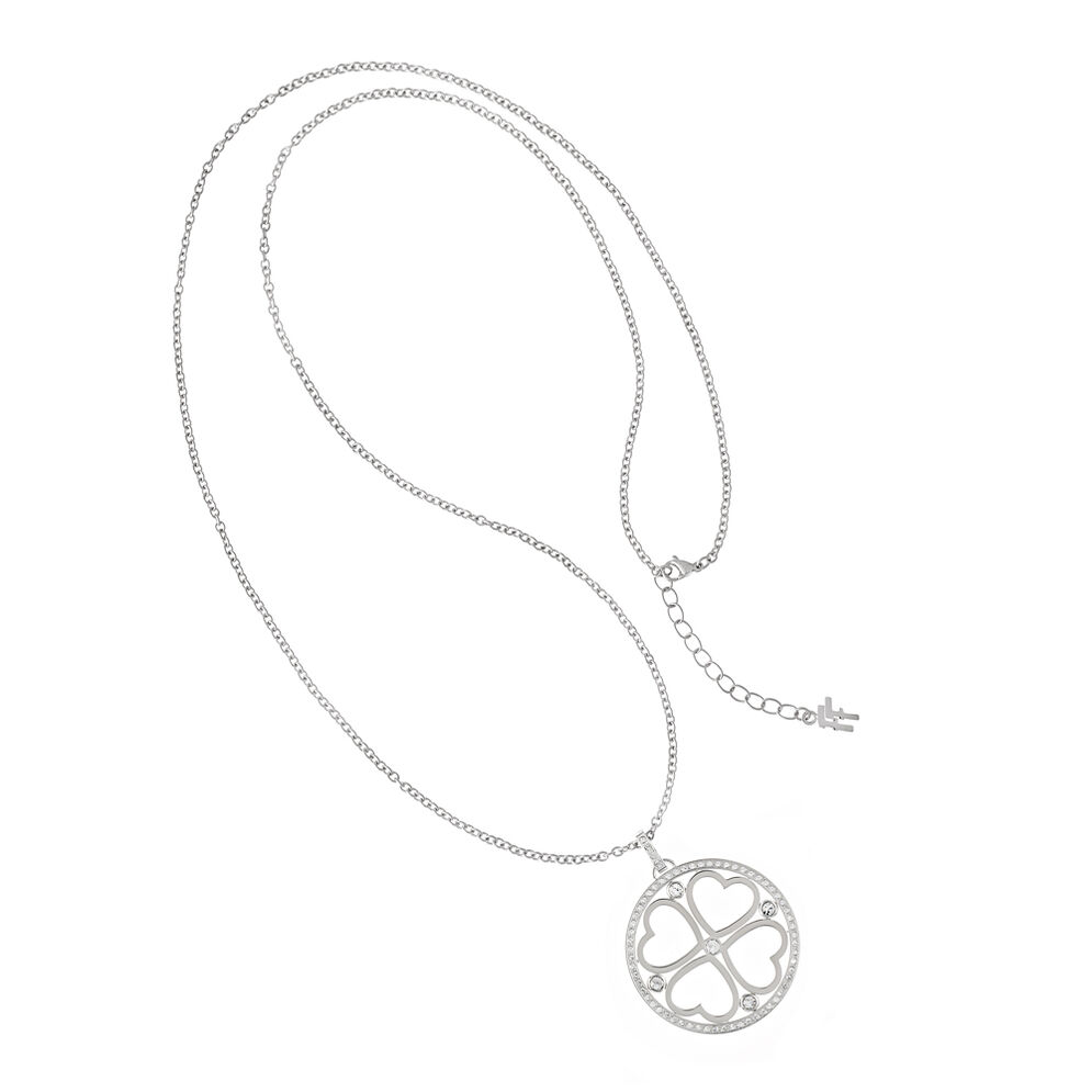 Heart4Heart Silver Plated Chain Long Necklace, , hires