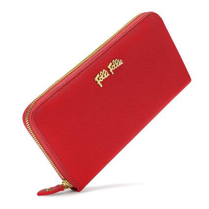 Folli Follie Big Continental Wallet, Dark Red, hires