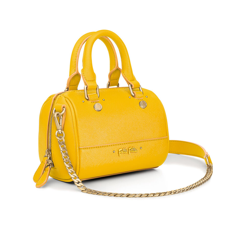 Uptown Beauty Mini Detachable Long Chain Strap Handbag, Yellow, hires