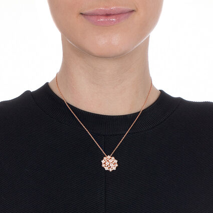 FF Bouquet Rose Gold Plated Κοντό Κολιέ, , hires