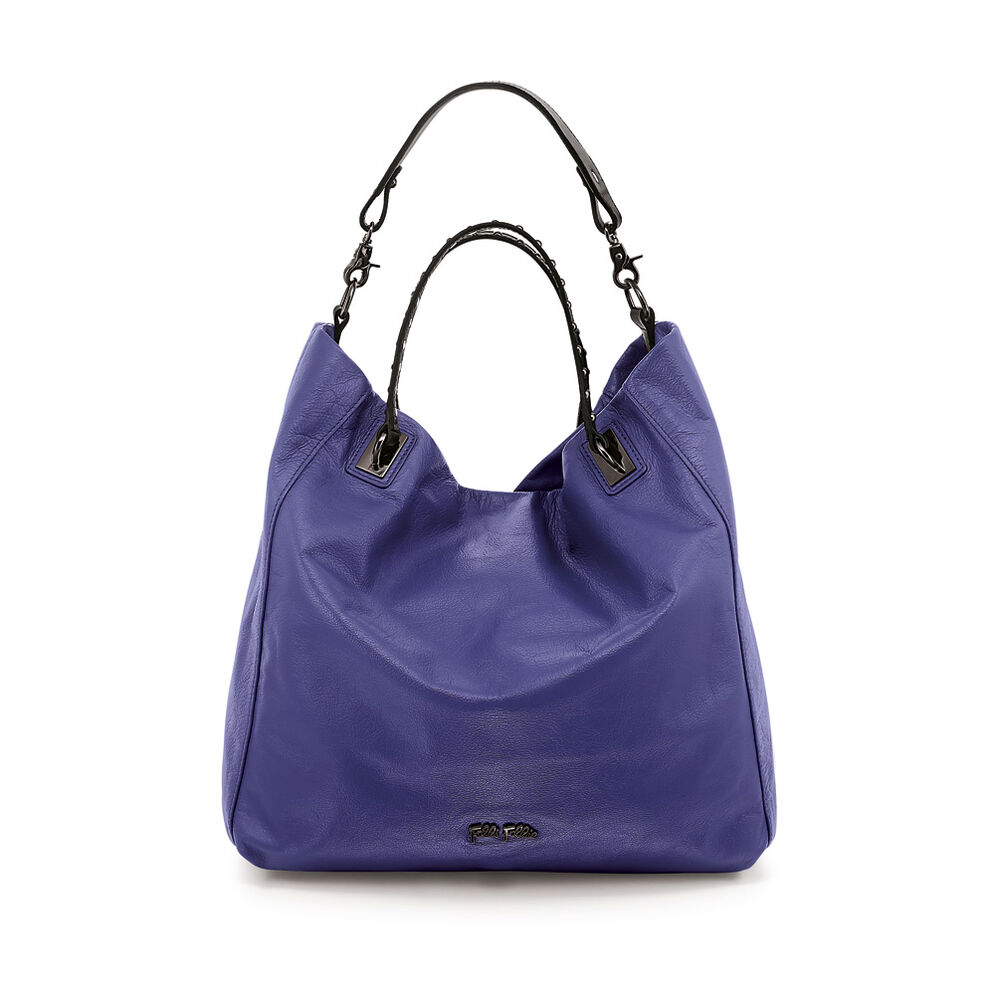 Brisk Δερμάτινη Τσάντα Ώμου, Purple, hires