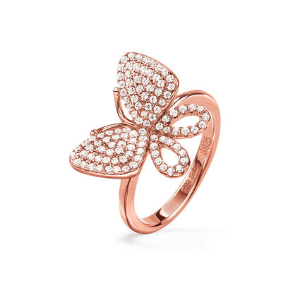 Wonderfly Rose Gold Plated Chevalier Ring, , hires