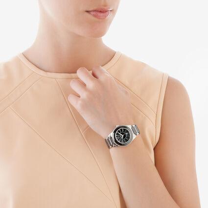 Ceramic 4 Seasons Watch, Bracelet Black, hires