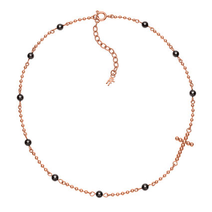 Carma Beads Rose Gold Plated Κοντό Κολιέ, , hires