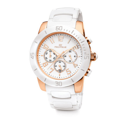 Allure Ceramic Watch, Bracelet White, hires