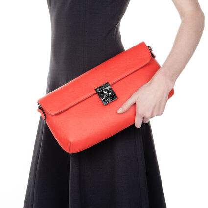 Heart4Heart Detachable Chain Strap Clutch, Red, hires