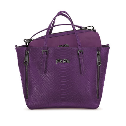 Grace Δερμάτινη Τσάντα Χειρός με extra pouch, Purple, hires