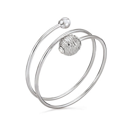 Style Pops Bangle Silver Plated Bracelet, , hires