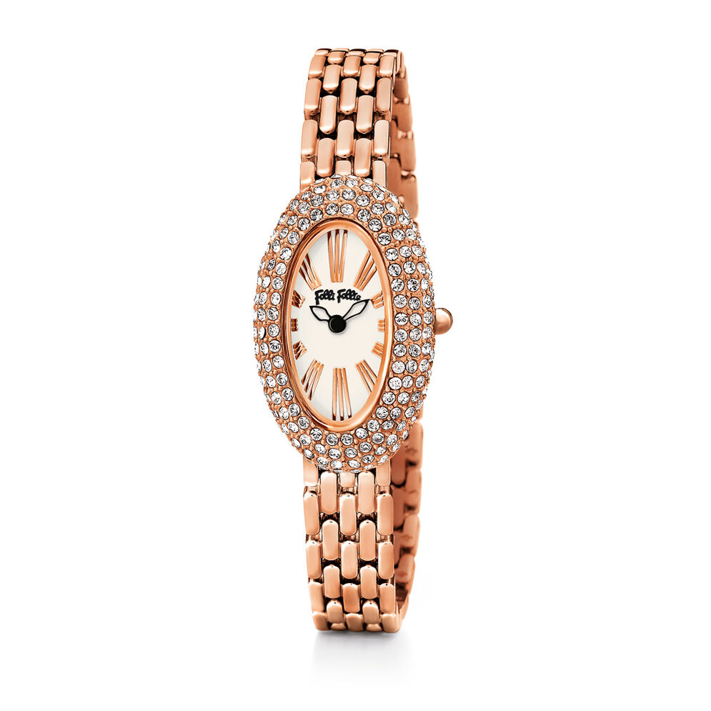 Classy Bracelet Watch, Rose Gold, hires