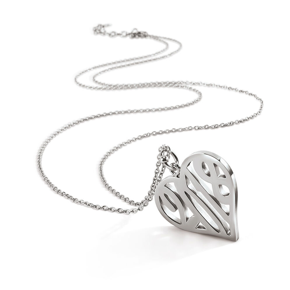 Lucky Charm Silver Plated Long Necklace, , hires