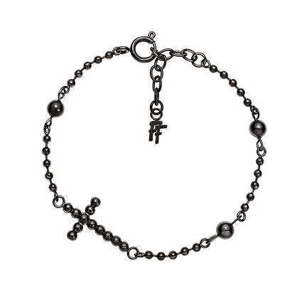 Carma Beads Black Plated Bracelet, , hires
