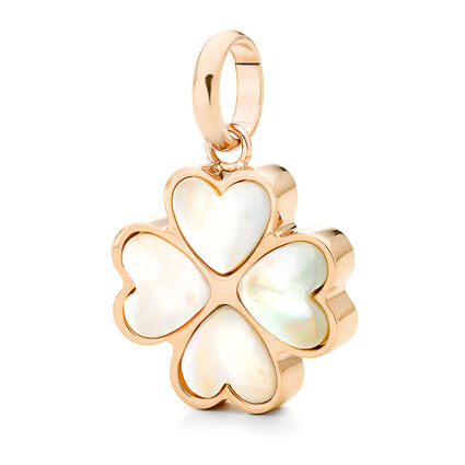 Follie Di Fiori Rose Gold Plated Mother Of Pearl Small Pendant, , hires