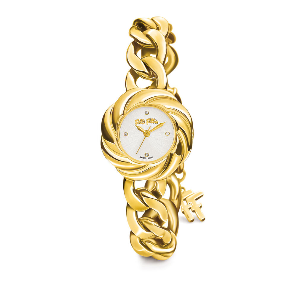 Timeless Chain Watch, Bracelet Yellow Gold, hires