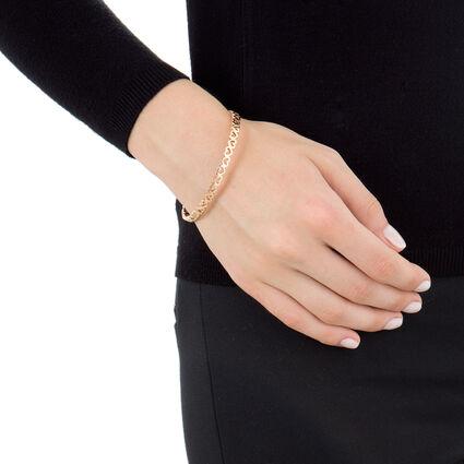 Love & Fortune Rose Gold Plated Heart Large Diameter Bangle Bracelet, , hires