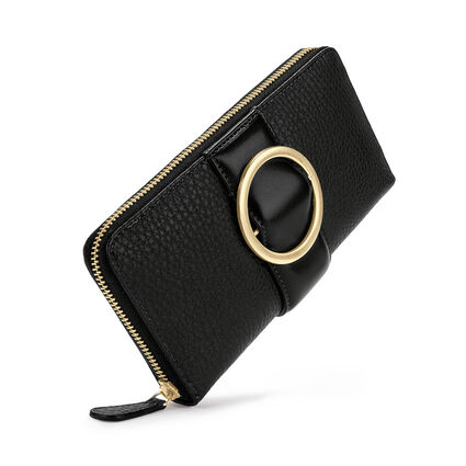 Cyclos Continenatal Zip Wallet, Black, hires