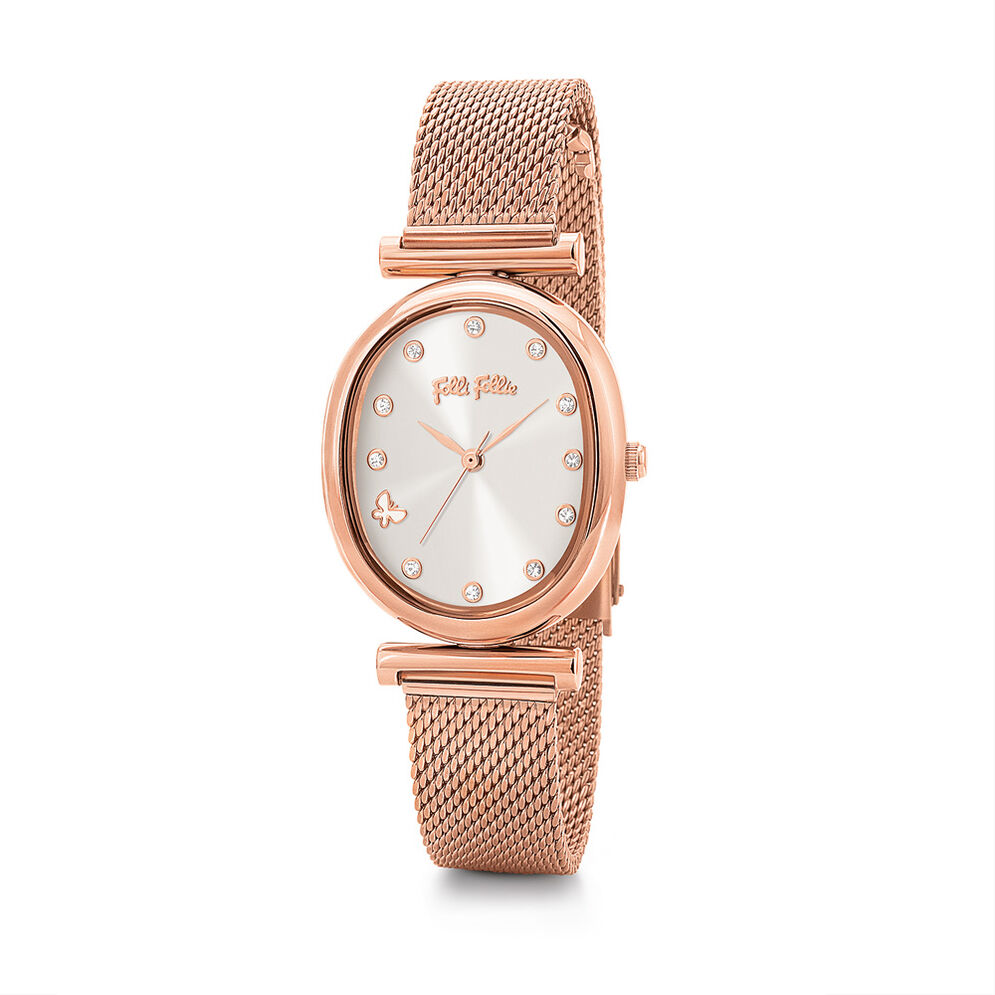 Wonderfly Oval Case Bracelet Watch, Bracelet Rose Gold, hires