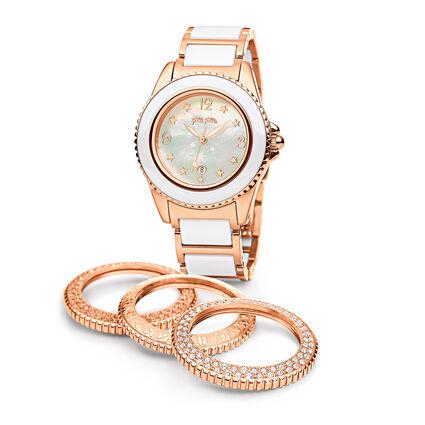 Ceramic Sport Watch, Bracelet White, hires