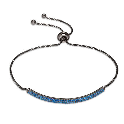 Fashionably Silver Essentials Black Rhodium Plated Adjustable Bracelet, , hires