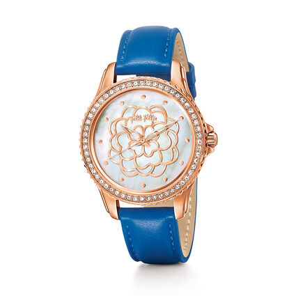 Santorini Flower Watch, Blue, hires