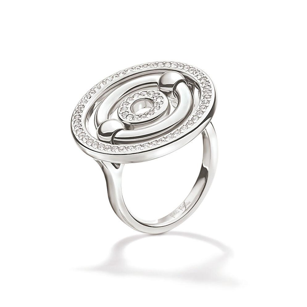 Bonds Silver Plated Κρυστάλλινες Πέτρες Μικρό Δαχτυλίδι, , hires