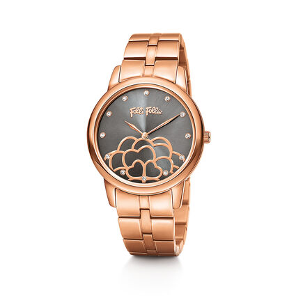Santorini Flower Watch, Bracelet Rose Gold, hires