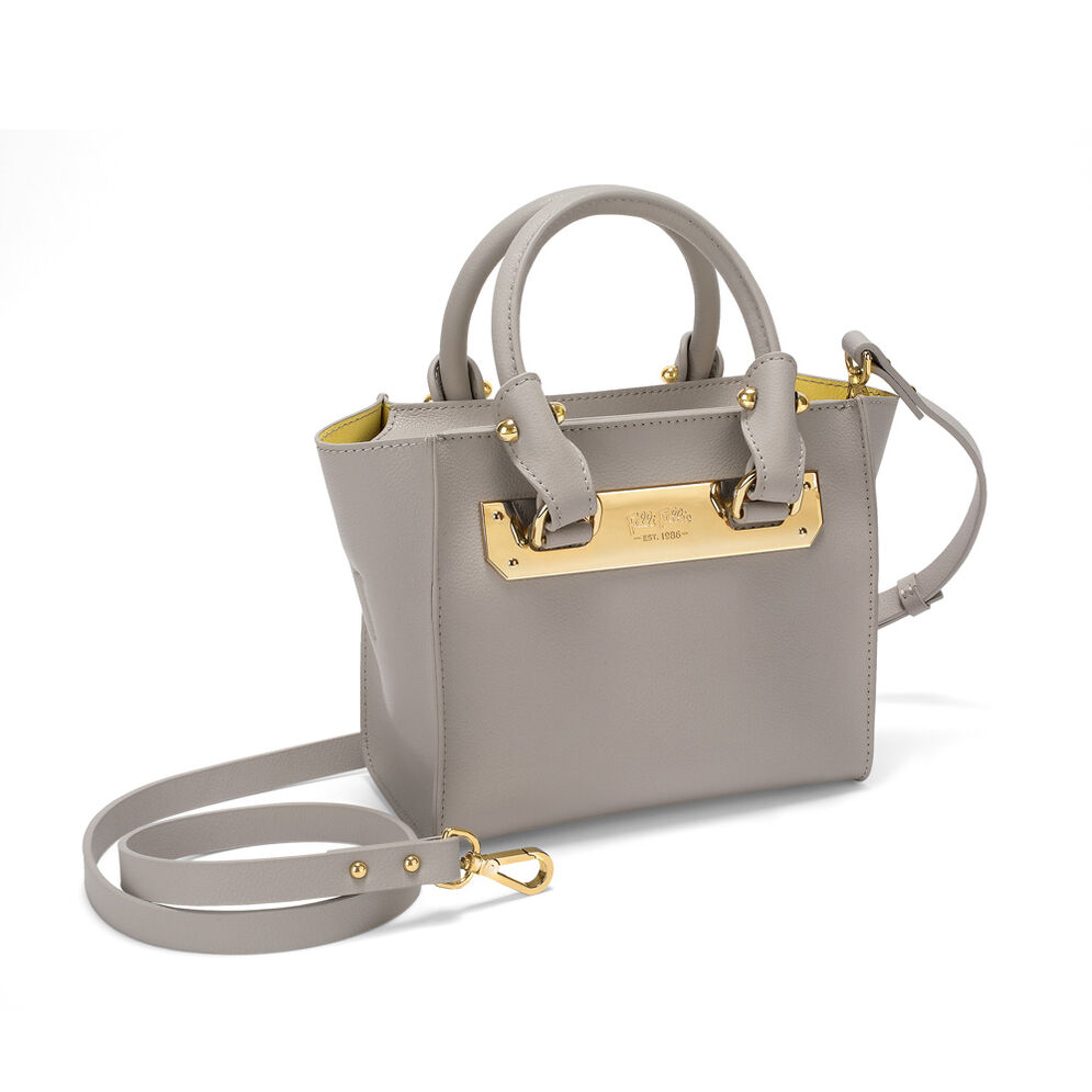 Style Code Small Leather Handbag, Yellow, hires