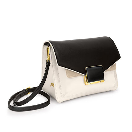 Lady Riviera Small Leather Crossbody Bag, Beige, hires