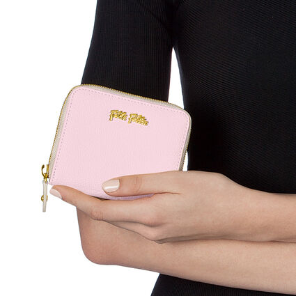 Fleur Riviera Μικρό Continental Δερμάτινο Πορτοφόλι, Pink, hires
