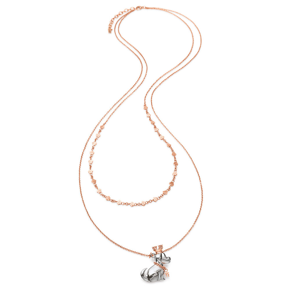 Lucky Dog Rose Gold Plated Long Necklace, , hires