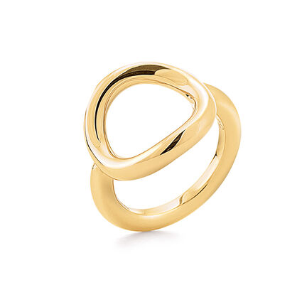 Metal Chic Yellow Gold Plated Ring , , hires