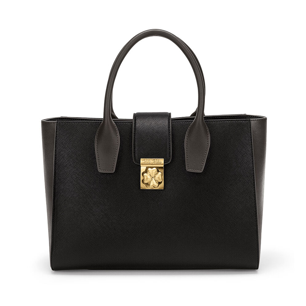 Heart4Heart Two-Tone Handbag, Black, hires