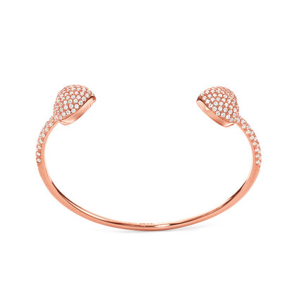 Fashionably Silver Stories Rose Gold Plated Cuff Bracelet, , hires