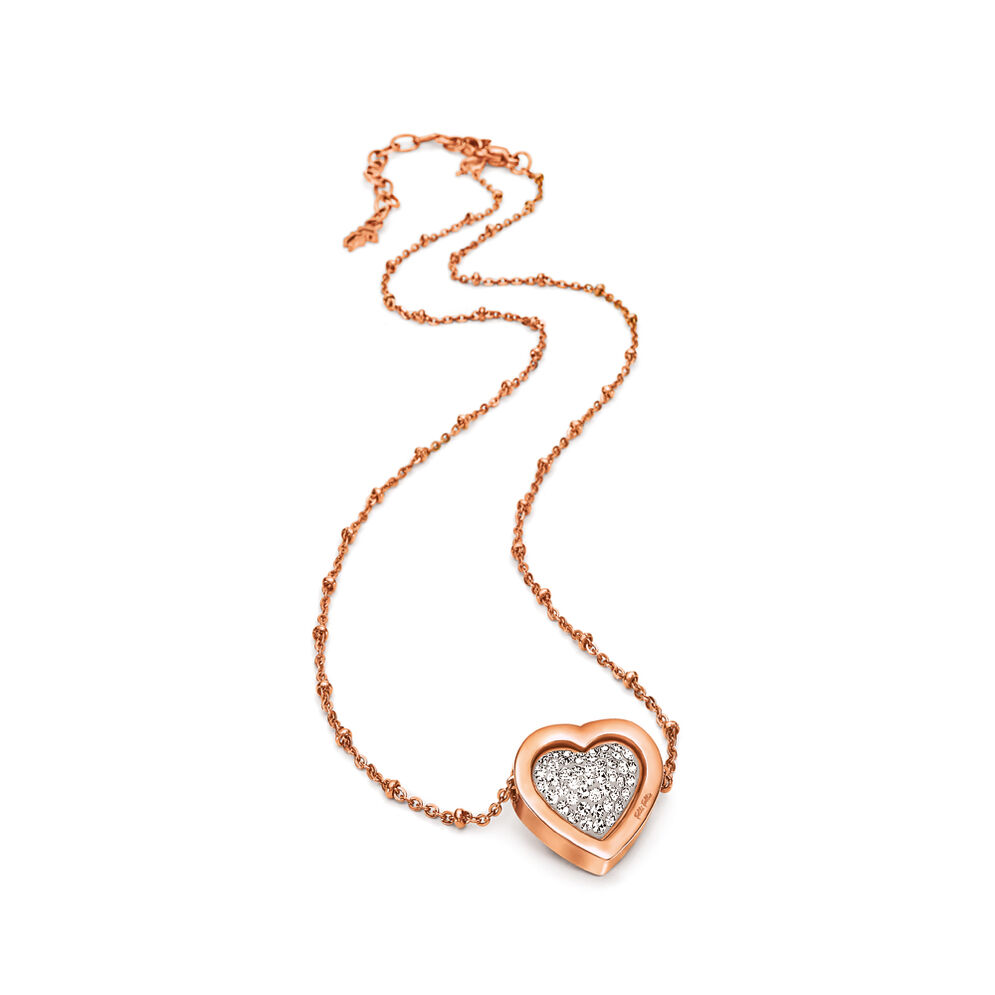 Playful Rose Gold Plated Double Sided Short Necklace, , hires