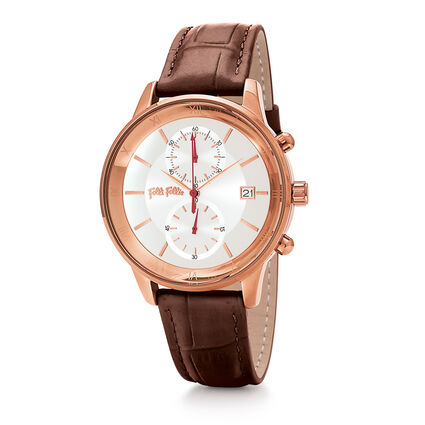 Big Moments Big Case Leather Watch , Brown, hires
