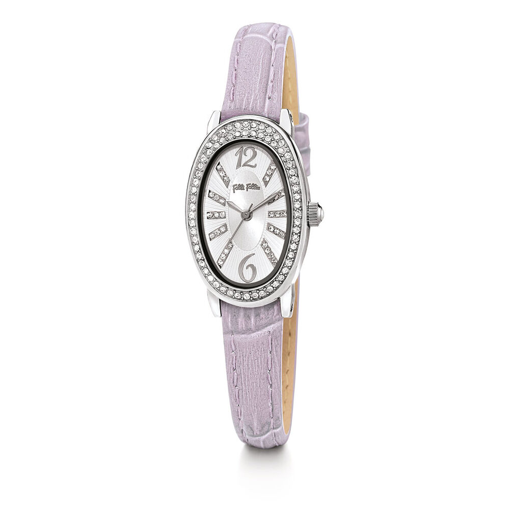 Mini Ivy Leather Watch, Lilac, hires