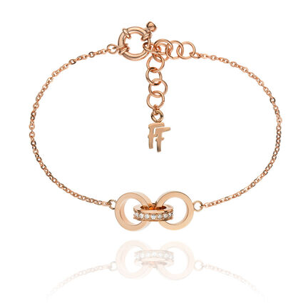 Touch Rose Gold Plated Κρυστάλλινες Πέτρες Βραχιόλι, , hires
